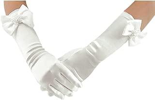 Long Gloves for Flower Girls Princess Gloves for Wedding Formal Gloves