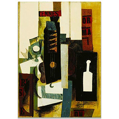 Picasso Poster Abstrakte Wandkunst Geige Leinwand Gemälde Nordischen Stil Bilder Vintage Drucke Wohnzimmer Moderne Dekoration 50x70cmx1 Kein Rahmen