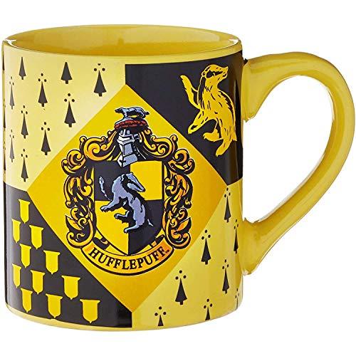 Silver Buffalo HP7432 Harry Potter Hufflepuff House Crest Ceramic Mug, 14-Ounces