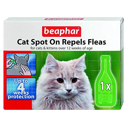 Beaphar Spot On für Katzen Verdrängt Flöhe 4wk