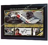 SGH SERVICES Gerahmtes Poster Ayrton Senna Formula1 F1
