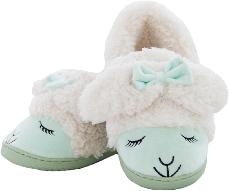 JadeRich Women's Cute Sheep Cozy Warm Indoor Slippers