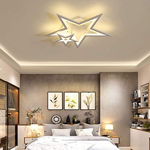 WJJH Lámpara de Techo Comer LED Techo Light Room Sala de Estar Lámpara Regulable con Mando a Distancia Moderno Dormitorio 36W lámpara de Techo de acrílico Pantalla Cocina Comedor Oficina,A