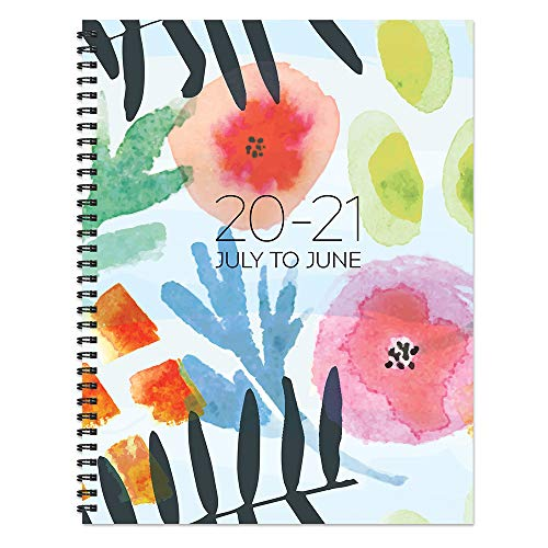 Modern Blossoms Large Daily Weekly Monthly July 2020 - June 2021 Planner + Coordinating Planning Stickers