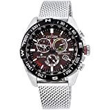 Citizen Men's Promaster Quartz Watch with Stainless Steel Strap, Silver, 22 (Model: CB5840-59E)