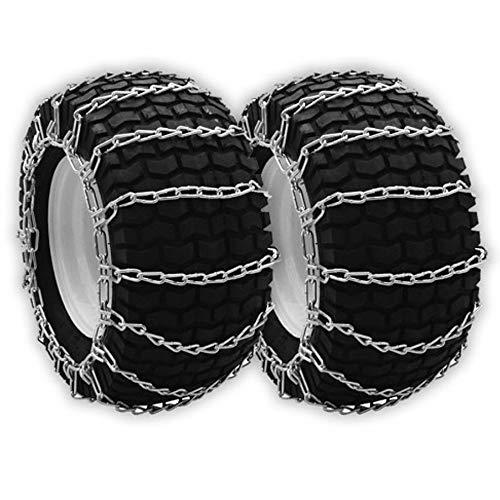 OakTen Set of Two Snow Tire Chain 20x10.50x12, 21x10.50x12, 21x11.00x8, 22x10x10, 22x10x12, 23x9.50x12, 24x8.00x14, 24x8.50x12, 24x8.50-14