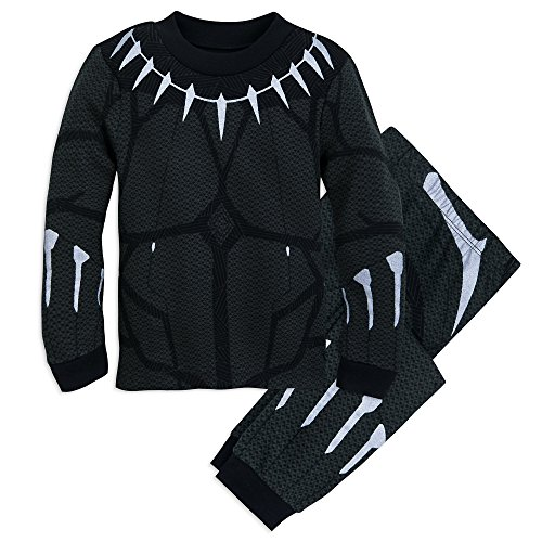 Marvel Black Panther Costume PJ Pals Set for Boys Size 5 Multi