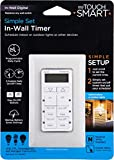 myTouchSmart In-Wall Digital Timer, 4 Programmable On/Off Buttons, 2 Easy On/Off Buttons, 24 Hour Daily Cycles, Blue LED...