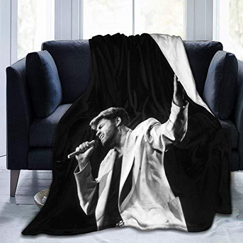 Manta de Franela Tela de Cepillo Extra Suave Súper cálida Mantas para sofás acogedora y Ligera Tyler50 x40,W127cm X L102cm