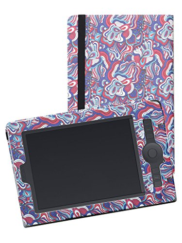 MAMA MOUTH Wacom Intuos Pro Medium PTH651 Funda, Slim-Book PU Cuero Funda Caso Case para Wacom Intuos Pro Medium PTH-651-ENES/Intuos Pro M SE PTH-651S-ENES Tableta gráfica,Stained Glass