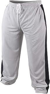Muscle Alive Hombres Deportivos Holgado Culturismo Pantalones Malla Secado rápido Pantalones Poliéster Ligero
