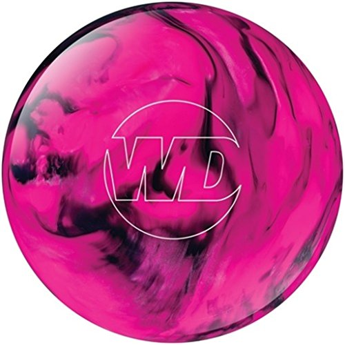 White Dot Bowlingball, vorgebohrt, Pink/Schwarz, BSCA09C300COLPD20744, 15Lbs