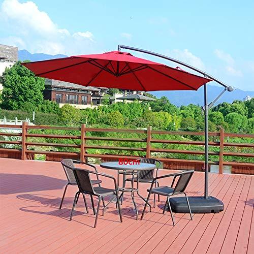 HYYP Inicio/Mesa de jardín al aire libre y sillas de plástico, juego de silla de mesa de patio con sombrilla mesa de centro de jardín con 4/6 piezas patio trasero. 80 redondas+4 sillas+um 2
