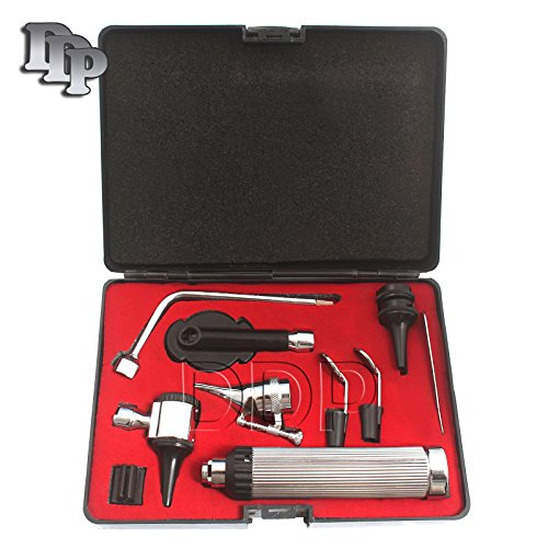 DDP New Premium Grade ENT Diagnostic Otoscope Set + 4 Free REPLACEMNT Bulbs (Complete Set All in ONE)