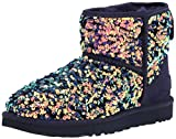 UGG womens Classic Mini Stellar Sequin Ankle Boot, Medallion, 7 US