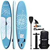 HIKS Products PURE Blue 11'2 3.4m Stand Up Paddle SUP Board Set Inc Paddle, Pump, Backpack & Leash Suitable all Abilities Ideal Family Inflatable Paddleboard Kit