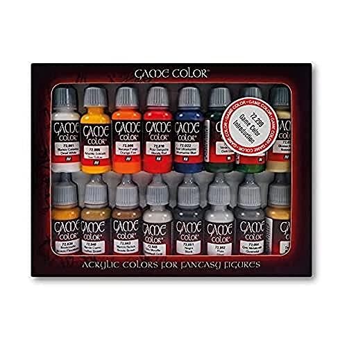 Vallejo Game Color - Set di Introduzione Colori acrilici a base d'acqua, 16 x 17 ml, Multicolore
