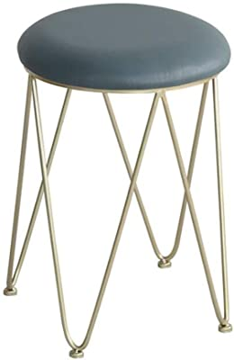 Round Seat Folding Stool Flodable Breakfast Chair Stools With Silver Frame//Legs Orange