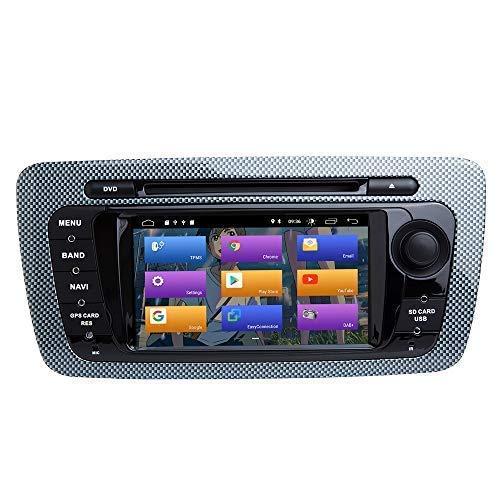 "JFFFFWI für Sitz Ibiza 6J MK4 SportCoupe Ecomotive Cupra Android 10.0 Double Din 6,2""Auto DVD-Player Multimedia GPS-Navigation Auto Radio Stereo Auto Auto Play/TPMS/OBD / 4G WiFi1"