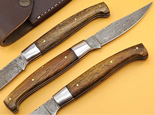 Unbekannt Damastmesser Pattada Jagdmesser Sardische Messer Taschenmesser Gross 23cm (RD2br)