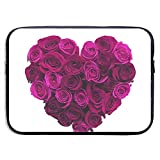 Funda para portátil Funda para portátil Rosa con Forma de corazón púrpura Bolso para portátil Funda para Funda...