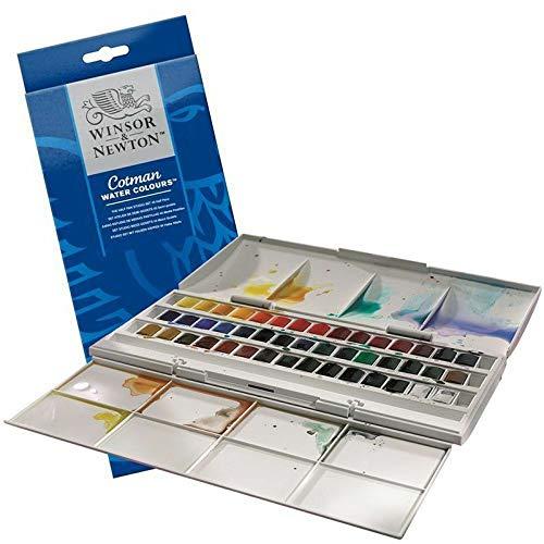 Winsor & Newton Set di acquerelli Cotman studio Half pan–include Integral palette