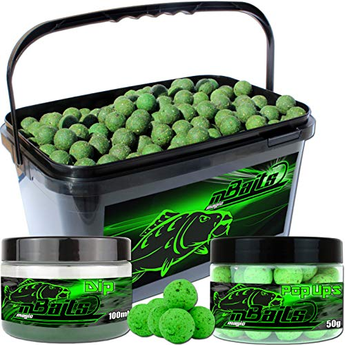 Angel-Berger Session Set Boilies Pop Ups Dip (Muschel, 20mm)