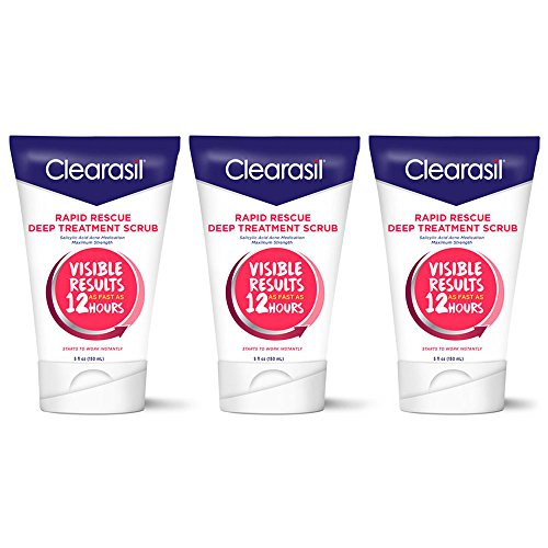 Clearasil Rapid Rescue Deep Treatment Face Scrub 5 oz. (Pack of 3)