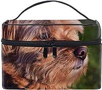 化粧ポーチ メイク収納 中身が見やすい子犬の犬の舌の突出 持ち運び用 小物入れ