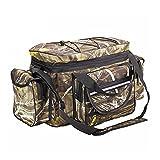 WMLBK Bolsa para aparejos de pesca, impermeable, bolso bandolera, mochila portátil grande, bolsa de almacenamiento para equipo de pesca al aire libre