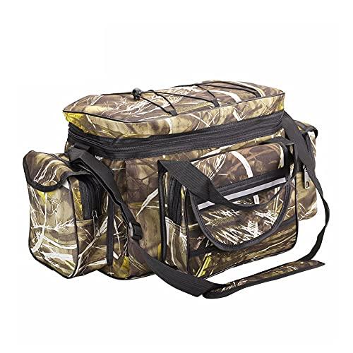 WMLBK Angelgerätetasche,wasserdichte Angeltasche Umhängetasche Tragbarer Groß Rucksack Angelbeutel,Aufbewahrungstasche für Outdoor-Angelausrüstung