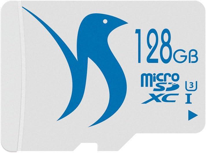 FATTYDOVE 128GB Micro SD Card Class 10 MicroSD MLC Flash Memory Card High Speed UP to 80MB/s Read for Drone/Dash cam/GoPro Hero 7&5/DJI Spark(128GB U3)