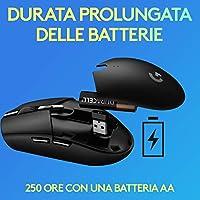 Logitech G305 Mouse Gaming Wireless Lightspeed, Sensore HERO, 12000 DPI, Design Leggero, 6 Pulsanti Programmabili + Logitech G733 Lightspeed Cuffia Wireless con Microfono Gaming #6