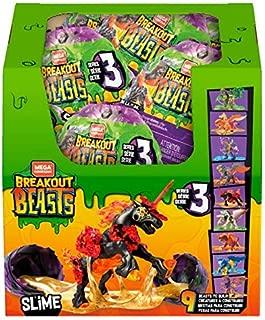 Mega Construx Breakout Beasts, Complete Wave 3 Series, 9-pc Set, Limited Edition, NO Surprises