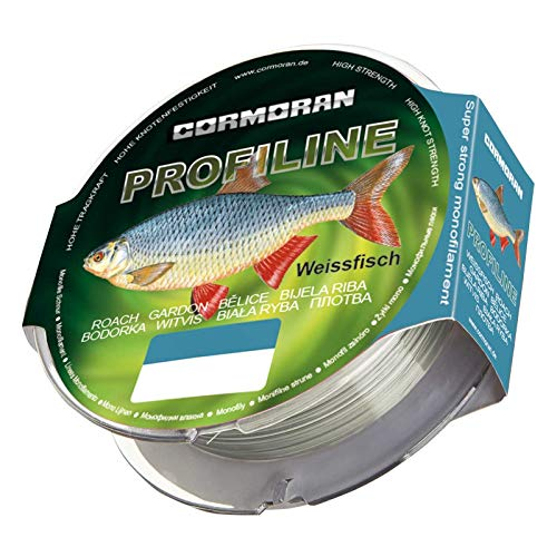 Cormoran Hilo de Pesca para Peces Blancos de Adulto, Transparente, Redondo, pequeño