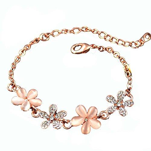 Bijoux Bijoux Fashion Bracelet Améthyste en forme de coeur en or rose Bracelet