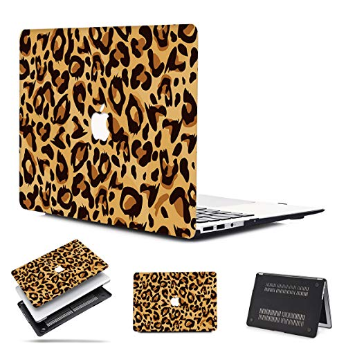 PapyHall MacBook Pro 13-in Four Thunderbolt 3 (USB-C) Ports Colorful Plastic Case for MacBook Pro 13 inch 2020 Release with Touch Bar Touch ID Model: A2251 A2289 Leopard Brown