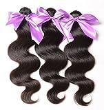 Mixed length 20' 22' 24' Loose Wave Brazilian Virgin Remy Human Hair Weave Weft 3 Bundles 300 Grams Unprocessed Natural Color Extensions 100% Brazilian Human Hair Extensions