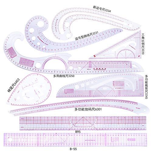MIKI-Z 9 stücke Nähen Französisch Kurvenlineal Maßnahme Schneiderei Schneider Zeichnungsvorlage Handwerk Werkzeug Set