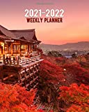2021-2022 Weekly Planner: Japanese Kiyomizu-dera Temple Two Year Calendar Agenda Organizer: 24 Months Weekly Planner with Vision Boards Notes To-Do's.