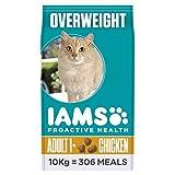 IAMS Proactive Health - Comida para Gatos con Pollo para Gatos esterilizados y con sobrepeso, 10 kg