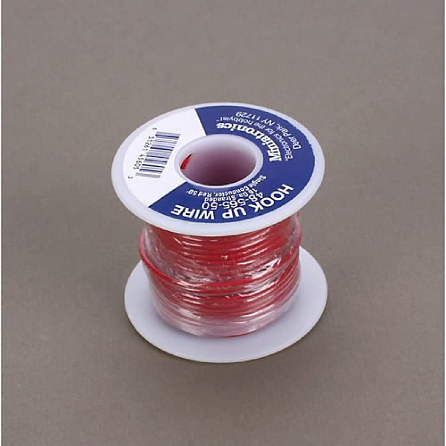 50' Stranded Wire 16 Gauge, rot by Miniatronics Corp