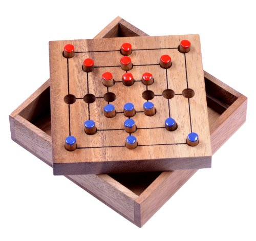 LOGOPLAY Mühle Gr. S - Strategy - Strategiespiel - Denkspiel - Brettspiel aus Holz