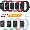 DOBSTFY Sport Bands Compatible for Watch Band 38mm 40mm 42mm 44mm, Soft Silicone Replacement Watch Bands Women Men Wristband Strap for 2019 2018 Watch Series 5 4 3 2 1 Edition, S/M M/L