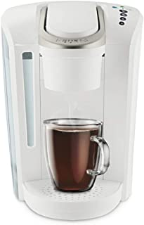 Keurig K-Select Single Serve K-Cup Pod Coffee Maker, With Strength Control and Hot Water On Demand, Matte White (Renewed)
