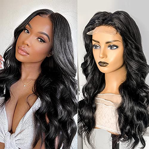 Body Wave Lace Front Wigs 12A Brazilian Human Hair for Black Women 16 inch Body Wave Lace Closure Wigs 220% Density Lace Wigs Pre Plucked Natural Hairline