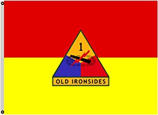 Fyon Uniformed Services Army Banner The 1st Armored Division Flag 3x5ft
