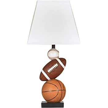 Signature Design by Ashley - Nyx Sports Table Lamp - Children's Lamp - Sports Fan - Brown