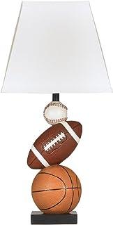 Ashley Furniture Signature Design - Nyx Sports Table Lamp - Children's Lamp - Sports Fan - Brown