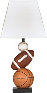 Ashley Furniture Signature Design - Nyx Sports Table Lamp - Children's Lamp - Sports Fan - Brown